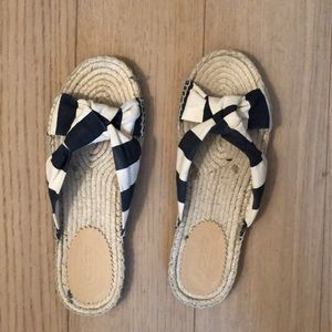 NEW Jcrew size 7 knotted espadrille slides